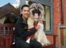 英国最大救援犬重44公斤 后腿直立高165公分