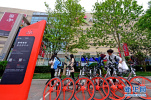 石家庄:共享单车贴上小广告 用户差点扫错二维码