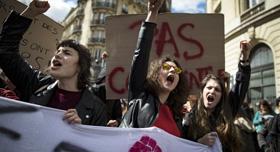 法学生反对教育改革