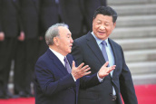 Xi urges enhanced Kazakh ties