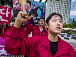 S.Koreans march to support of Kim-Trump summit
