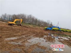 光山县商务中心区施工现场热火朝天 争先进位谋发展