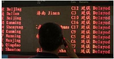 中国航班准点率全球垫底