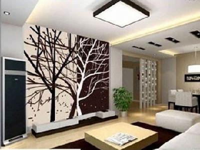 手绘创意电视背景墙_六款客厅手绘墙 定制你的专属个性-中国搜索家居