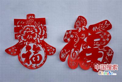 2016年1月5日,河南郑州,李婉君的剪纸作品。(中国搜索 杨正华 摄)