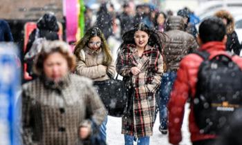 冷空气侵袭中国北方