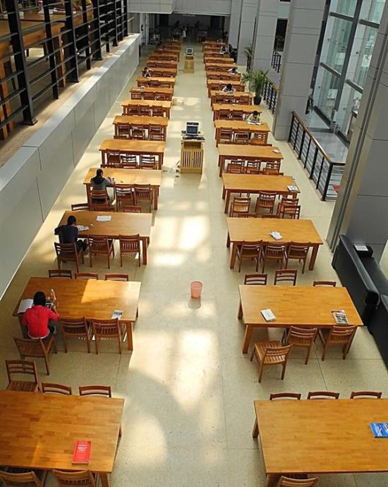 女大学生一年去图书馆826次 被称馆霸