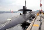 """美""""密歇根""""号核潜艇驶入韩国釜山港"""