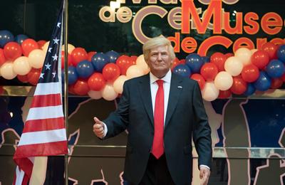 特朗普蜡像揭幕