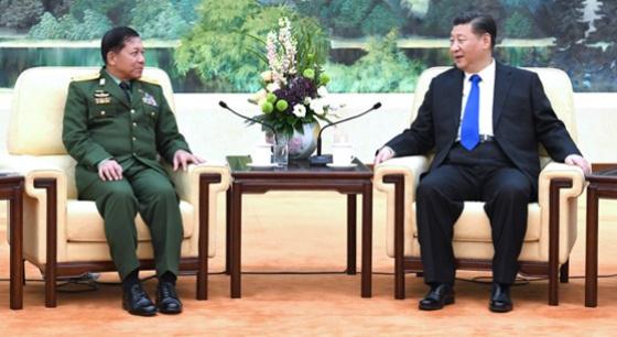 习近平会见缅甸国防军总司令