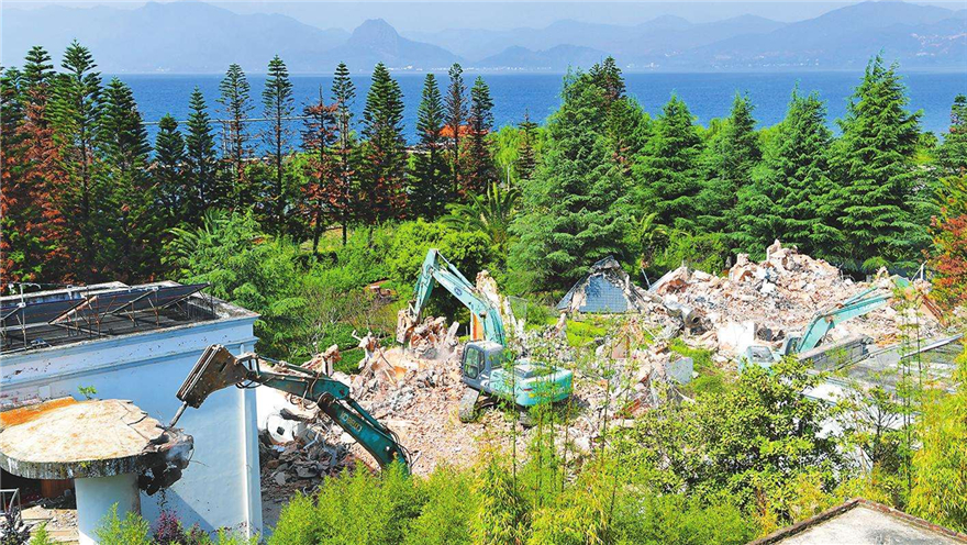 云南玉溪 拆除抚仙湖一级保护区全部建筑