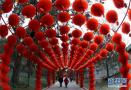 北京地坛装扮迎庙会