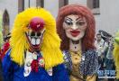 巴塞尔狂欢节举行游行