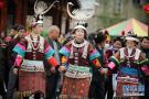 贵州凯里:芦笙舞步闹新春
