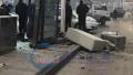 郑州市区一信号灯供电设备被撞坏 致多路口信号灯不亮