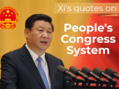Xi's quotes on People's Congress System