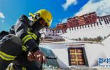 西藏旅游逐渐进入旺季 布达拉宫消防演练忙