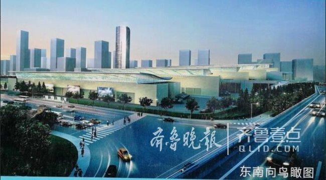 快三走势图今天:济南西部会展中心五展馆即将封顶 明年5月达竣工标准