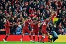 萨拉赫2球2助 半决赛首回合利物浦主场5-2罗马