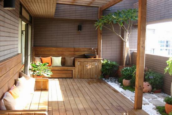 小阳台花园装修图片欣赏