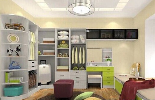 卧室转角衣柜添加梳妆台-脑洞大开 衣帽间巧置招数大盘点