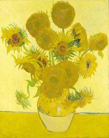 高1888年的作品,《瓶中的12朵向日葵》-有关梵高 你还有什么不知