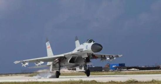 中国政府征用民航飞机对该机场进行校验试飞