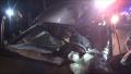 丹阳境内一面包车追尾货车 有人受伤