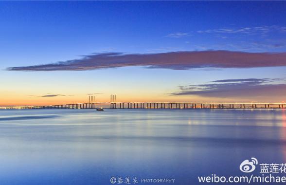 这个视角拍胶州湾大桥 简直美绝了