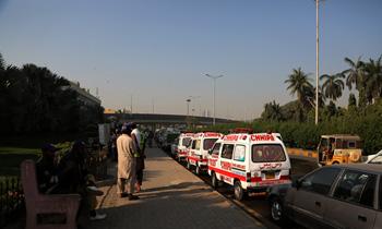 巴基斯坦賓館發生火災