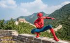 蜘蛛侠登长城做好汉