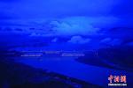 """三峡大坝首次整体""""点亮"""" 夜景美不胜收"""
