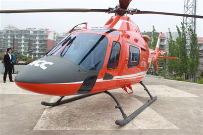 空中120直升机正式上岗 两家医院成首批救援点