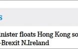 """爱尔兰外长提""""香港模式"""" 让英国考虑""""一国两制"""""""