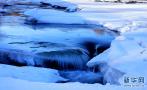 三九严寒天蓝色冰河