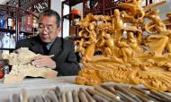 河南夏邑:王思军用木雕承载地域文化