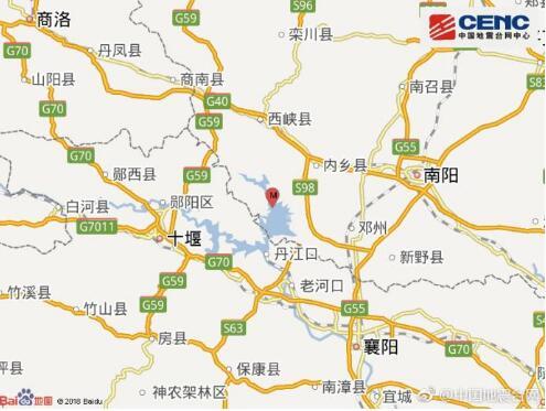 北京赛车微信群:河南南阳市淅川县发生4.3级地震 震源深度10千米
