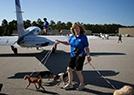開飛機遛狗