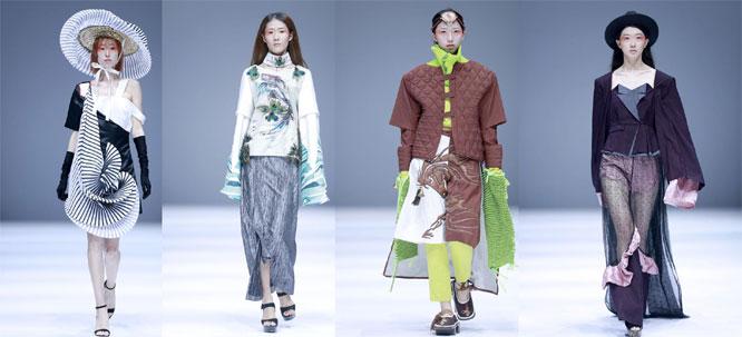 青岛大学纺织服装学院在京举行时装发布会