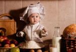 厨房中的亲子互动 锻炼宝宝的感知成为教育根据地