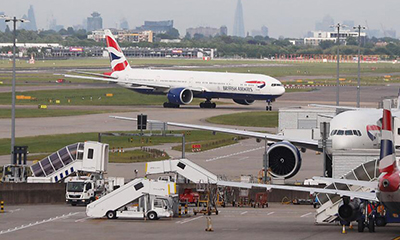 英航航班大面積延誤
