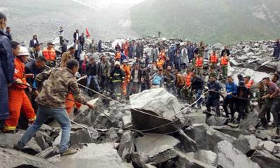 四川茂县发生山体垮塌