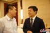 李彦宏在世界智能大会上接受光明日报记者独家采访