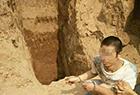 挖掘机盗挖唐代古墓