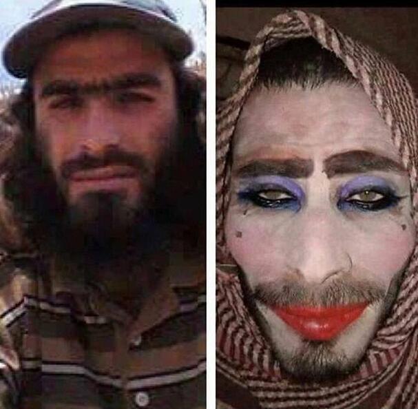 IS战士扮女人逃跑