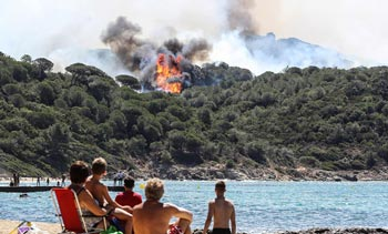 法國多地山火爆發