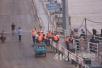 为应对大水和修缮济南泺口浮桥正拆除