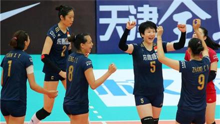 中国女排3:0哈萨克斯坦 晋级四强