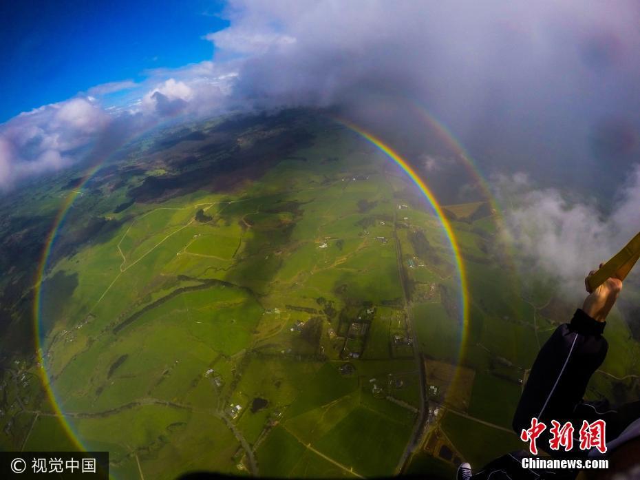 圆形彩虹没见过吧?