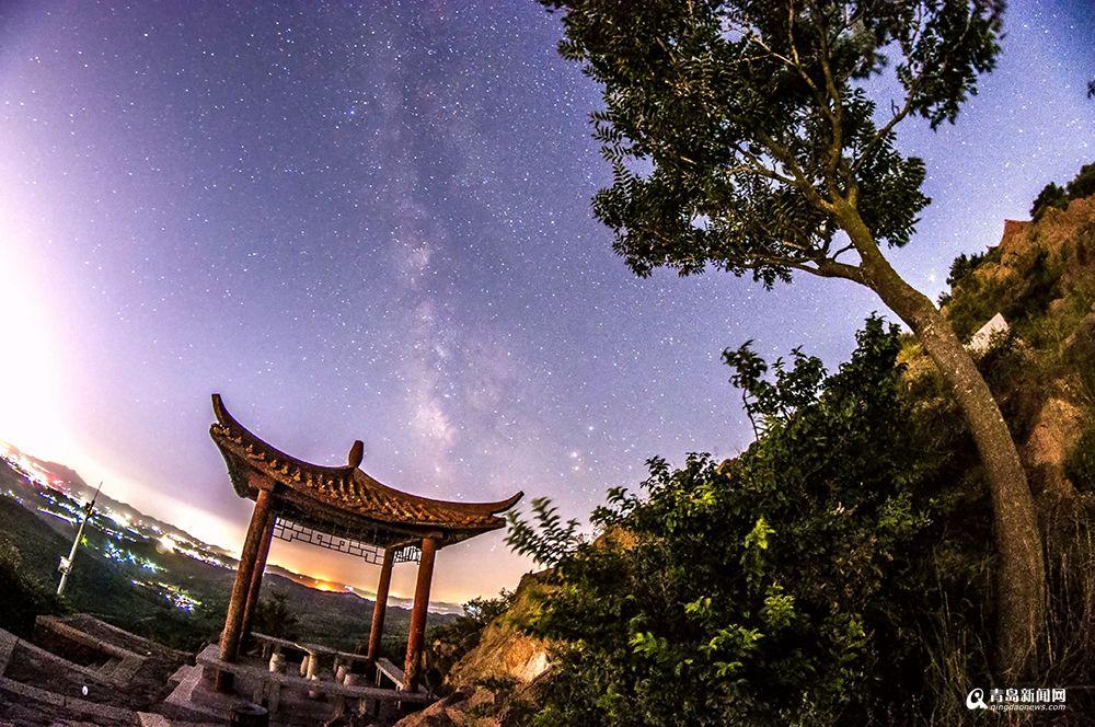 一组美图告诉你 初秋青岛夜空之魅